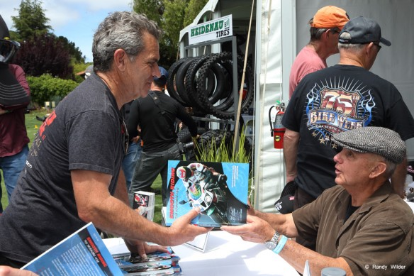 Reg Pridmore at Quail 2016 Motorcycle Gathering book signing