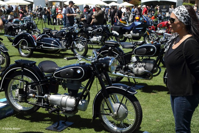 The BMW section at the Quail Motorcycle Gathering 2016.