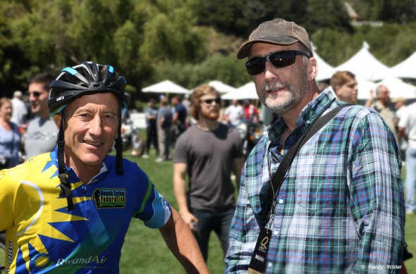 Jacques Boyer and Geoff Drake at Quail 2016 Motorcycle Gathering