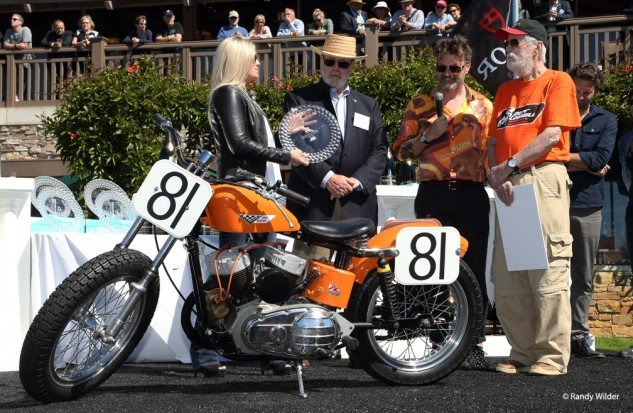 1957 Harley Davidson KR, winner of the Significance in Racing award.
