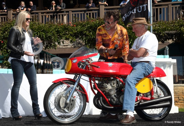 1964 MV Agusta Triple, winner of the Spirit of Quail and Competition On-Road classes.
