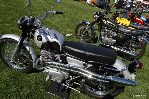 Row of Hondas at the Overview of the Quail Motocycle Gathering 2016.