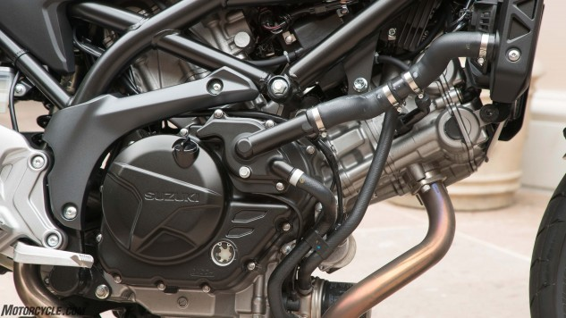 Numerous little changes to the SV's 645cc V-Twin have made a fun engine even, uh, funner.