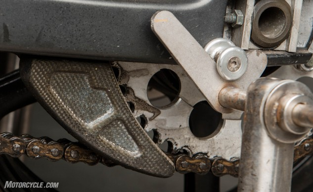 dirty sprocket and chain