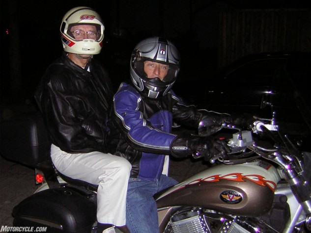 My dad wasn't a fan of motorcycles, but I'm very grateful he was cool enough to chip in for half the cost of my first dirtbike and take me out riding on weekends. It wasn't until he was 72 years old that I took him on his first motorcycle ride. I wish he was able to have stuck around for a few more.