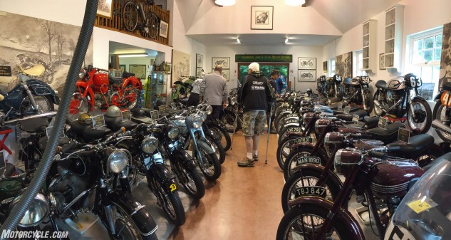 The A.R.E Motorcycle museum.