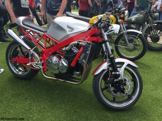 A FrankenHonda at the Moddy Dhoo Bike Show in peel