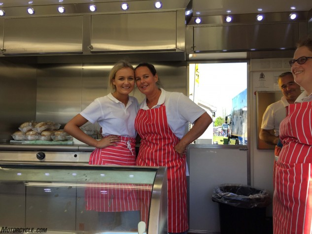 Lucy and Helen Campbell of the Carvery, home of the TT's best sandwich.