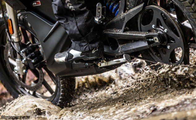 The SP-1 is not waterproof, nor is it an off-road shoe by any means, but it can pull off some fire-trail duty if needed.