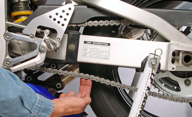 How To Adjust A Motorcycle Chain