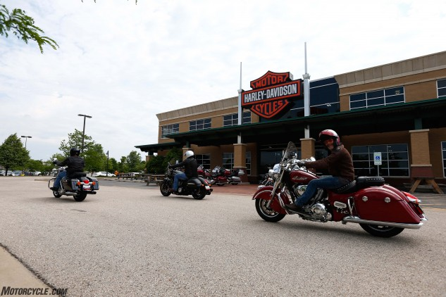 Our 1000-mile journey got underway in earnest after we visited Victory/Indian dealer American Heritage Motorcycles and then Harley-Davidson of Chicago to collect our mounts for the trip. A big thanks goes to the crews at both dealerships for their assistance.