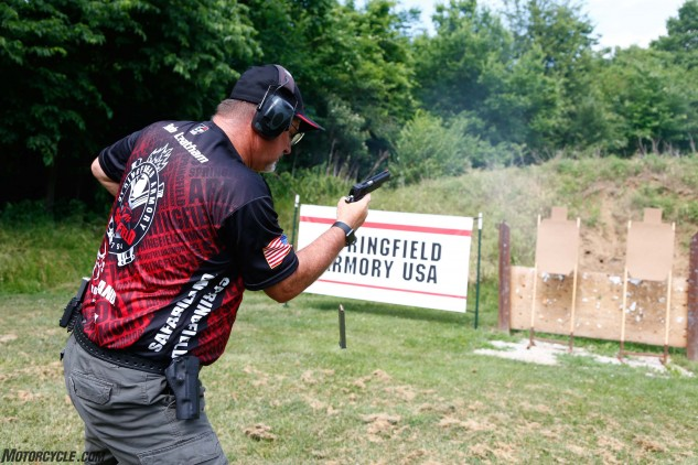 Team Springfield's Rob Leatham is a multi-time national and world championship-winning shooter who also happens to be a former club- and professional-level road racer. The fun-loving Arizonan was serious as a heart attack when it came time to display his talent with a handgun.