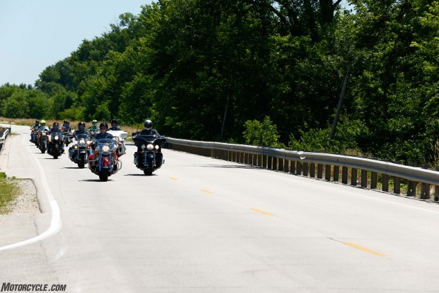 Many of Springfield Armory's employees are avid motorcyclists, and Reese even allowed some of them to play hookie from work and accompany him as he escorted us for over an hour, before stopping and buying us all lunch on our ride away from Geneseo.