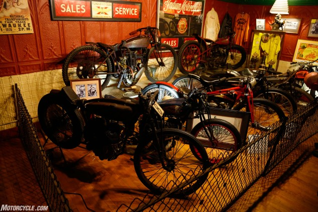 One of the surprise highlights of the trip came when we visited the Iron Horse Social Club in Savanna, Illinois. In addition to being a local watering hole, the Main Street location boasts a treasure trove of antique motorcycles. This is just a small portion of the dozens of machines on display.