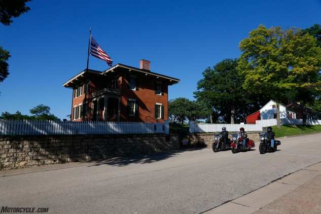 We also passed by a historic monument in Galena, Illinois. This flag-toting brick home is the crib of none other than Ulysses S. Grant, the 18th President of the United States.