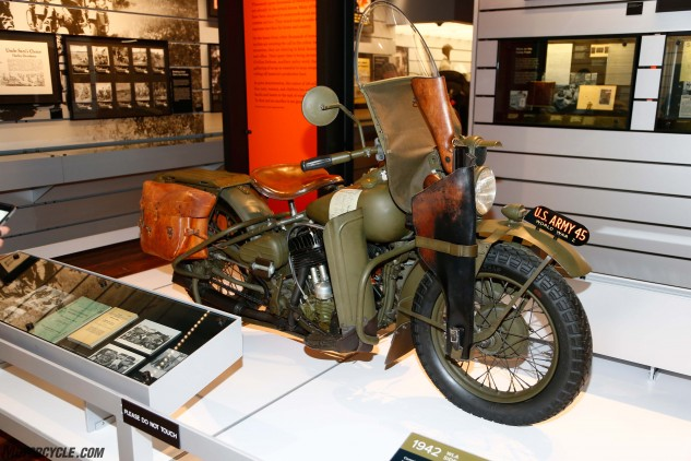 Harley Davidson's legendary WLA is the iconic mount ridden all over Europe by American G.I.s during WWII and in countless movies to follow. Funny, we can't seem to find the Thompson submachine gun or its scabbard in any of today's Harley-Davidson accessory catalogs.