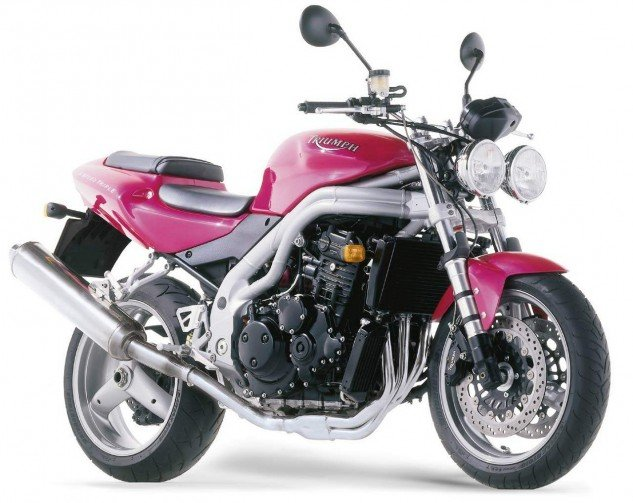 The way we whir: The late-'90s Speed Triple was the Freddie Mercury of motorcycles, especially in Pepto-Bismol Pink.