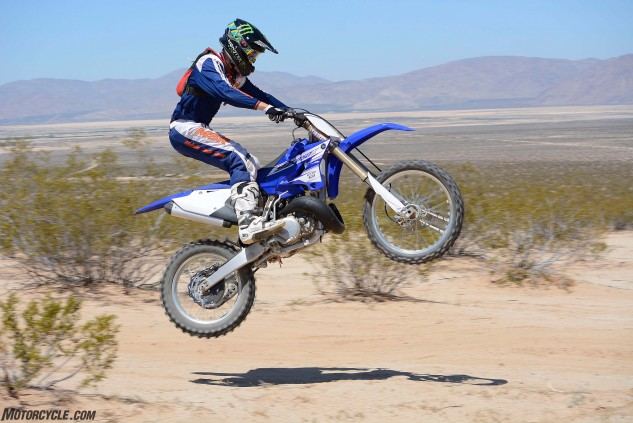 Fourth and fifth gears in the YZ250X's transmission are best left for warp-speed off-road riding.