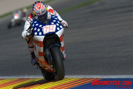 Hayden logged the fifth-quickest time at the post-season testing last November in Spain. Four other Ducatis at the test went slower.