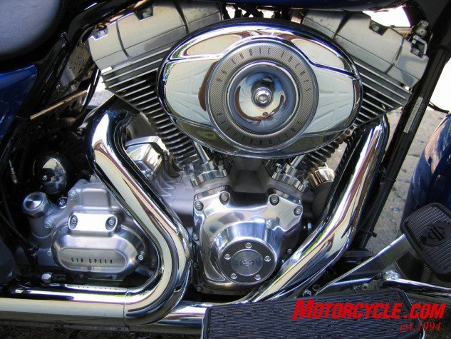 The 96-inch motor and six-speed are the heart and soul of this bike.