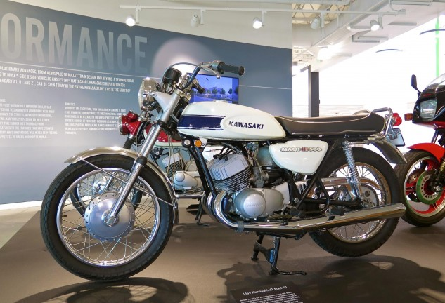 The 1969 H1 500 Triple alerted the world that Kawasaki had entered the room, via a world record quarter-mile of 12.61 seconds at 111.38 mph, quickest ever for a production motorcycle. Remember to tighten fasteners…