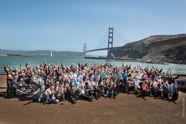 After three weeks on the road, 68 coast-to-coast riders were joined by supporters from across North America.