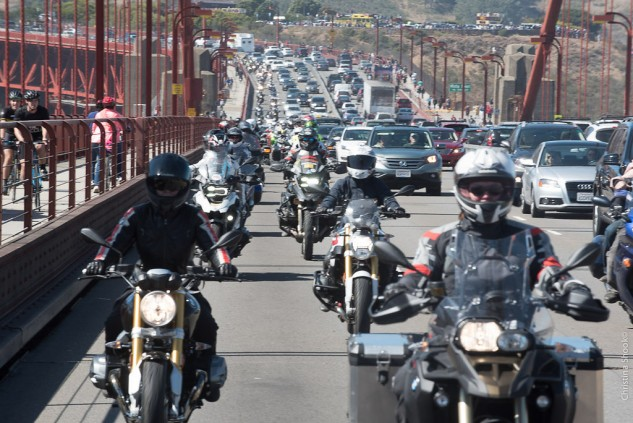 Riding across the Golden Gate Bridge as part of the the Sisters Centennial Ride was the experience of a lifetime for the author of this story.