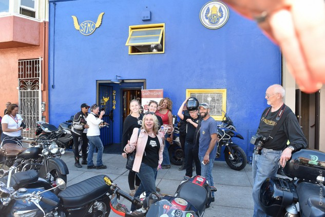 Riders were welcomed to the San Francisco Motorcycle Club for refreshments and good conversation.