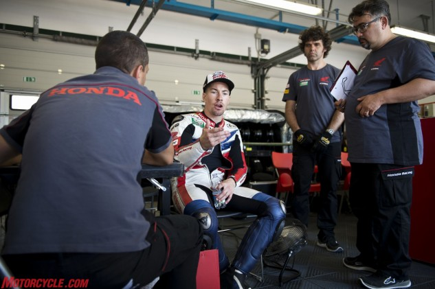 Hayden has only been in the WSBK paddock for half a season, but he's putting his MotoGP experience to work right away. He says it's most evident in his communication with the team.