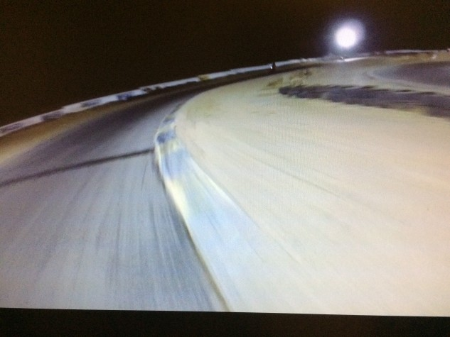 The view at night. Just you, the bike, the track, and your thoughts.