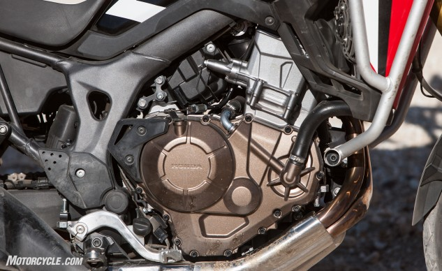 Even with 198cc more displacement, Honda's parallel-Twin loses out to Triumph's Triple by a couple horsepower 85.7 hp at 7,600 rpm vs. 87.5 hp at 9,200 rpm. The AT makes up for it in the torque department: 67.0 lb-ft at 5,900 rpm vs. 52.9 lb.-ft. at 7,700 rpm.