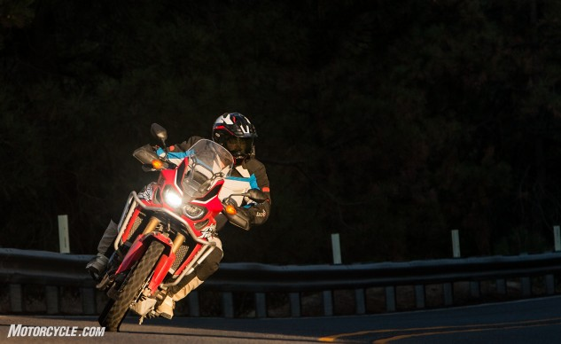 Honda's new Africa Twin won our Best On-Off-Road/Adventure Motorcycle of 2016 by virtue of its light weight, affordable price and ultra-friendly riding dynamics. It's so amazingly well-rounded it could be the only bike in your garage. Alexander, a longtime devotee of Kawasaki's Versys, says the Honda might just replace the Kawi as his favorite all-around motorcycle.