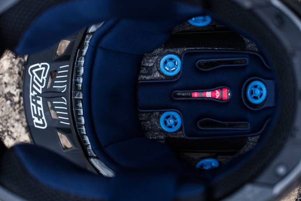 """The """"Turbines"""" inside Leatt helmets absorb and dissipate impact energy, as well as allow the EPS liner to move freely thus helping to reduce rotational forces."""