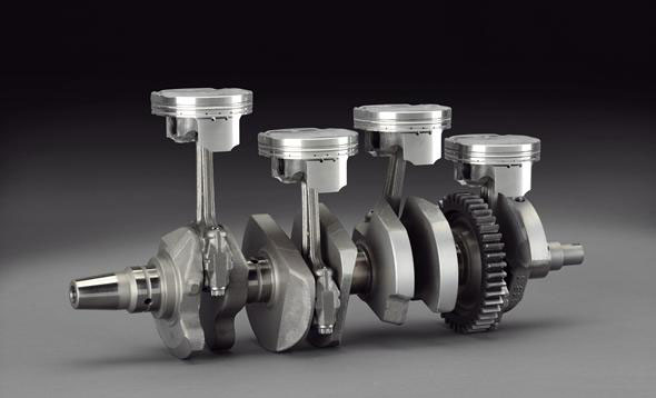 The crossplane crank situates pistons 1 and 4 180 degrees apart on the crank, and so are #2 and 3.