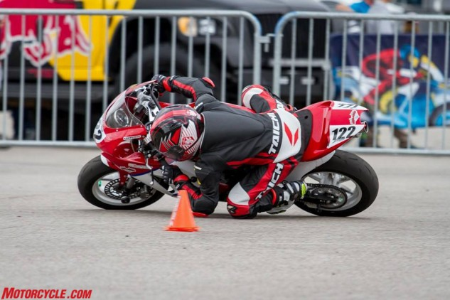 Blake Davis is 9 years old and already getting his elbow on the ground on a motorcycle. This year MotoAmerica has been showcasing the Kayo MR125, and the youth who ride them, at each round.