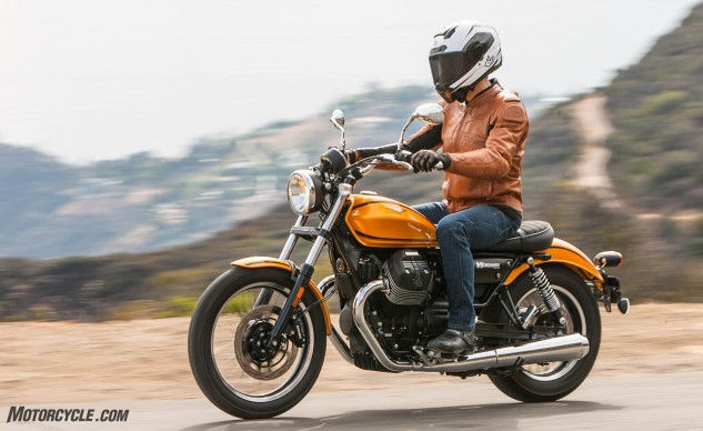 """""""Awesome paint and decent detailing on the Roamer,"""" says Burns. """"I have a feeling this will be another sleeper from Guzzi which will be overlooked in droves that shouldn't be."""""""