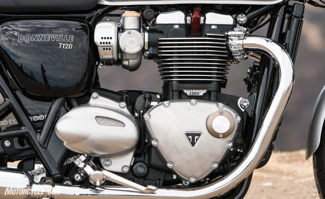 Thoroughly modern with a heavy dollop of nostalgia. Triumph hit a homerun with its new 1200cc Twin, giving it incredibly generous, usable torque without losing the appearance of the classic Bonneville engines that came before it.