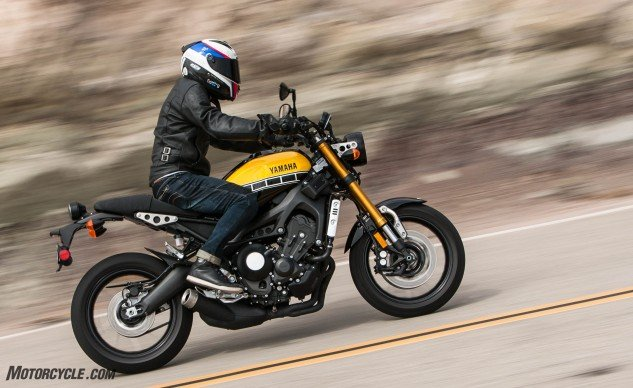 The anniversary-edition XSR900 might have retro-inspired styling, but its performance is firmly rooted in the modern day.