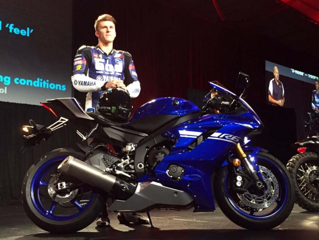 MotoAmerica Supersport Champion Garrett Gerloff brought the new R6 on stage for its debut in Orlando at AIMExpo, saying the updates will help him in the 2017 season.