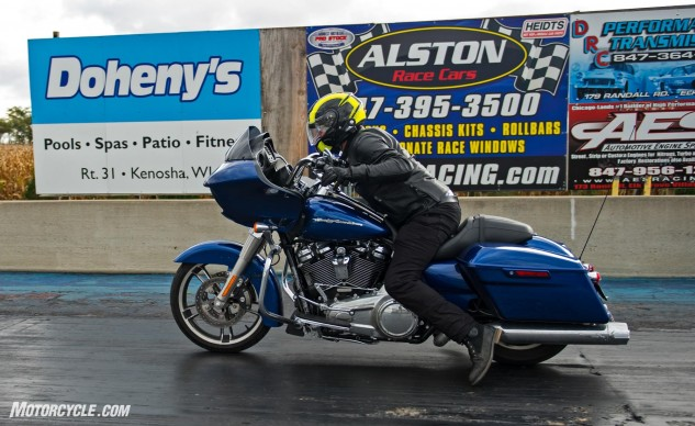 While the Stage II Power kit may give the beefiest peak numbers, this Road Glide was equipped with the Torque kit that positioned the torque and horsepower in the low- to mid-range. This package struck my preferred balance of usable power versus cost.
