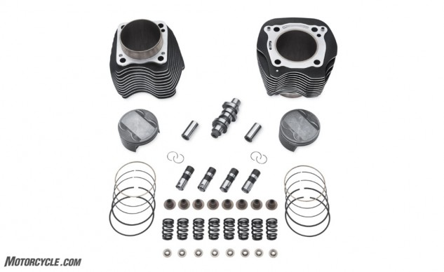 The contents of the Milwaukee-Eight Stage III kit.