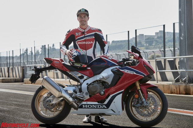 Nicky's smiling because Honda's finally coming out with a new CBR1000RR SP.