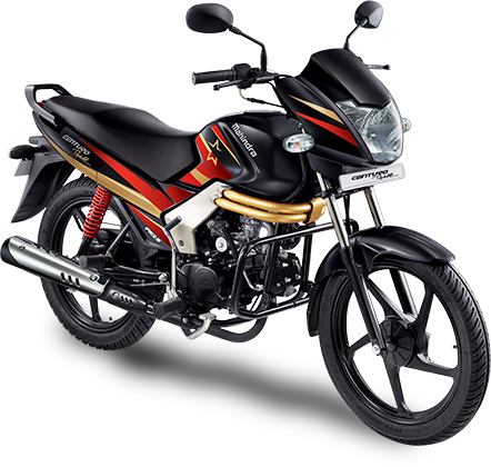 Powered by a 106cc Single, Mahindra's Centuro is its largest motorcycle offering.