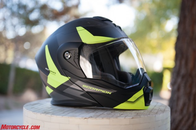 Scorpion's EXO AT-950 almost resembles any other street helmet, except its chin bar is slightly more pronounced than your average street helmet.