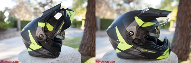 With both the beak and faceshield in place, the chin bar is still able to open fully.