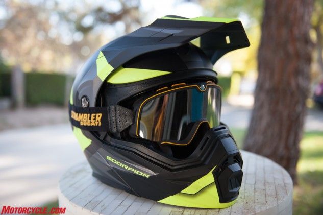 If the destination calls for it, you can ditch the beak and faceshield entirely, pop on some goggles and kick up some roost.