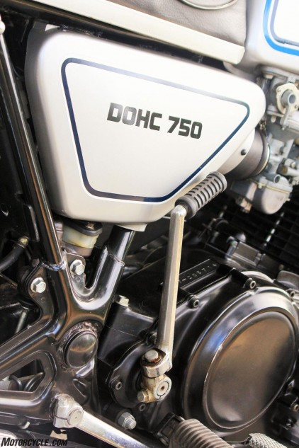 Lots has changed since 1977. No longer do we see double overhead cams actuating just two valves per cylinder, let alone a kickstarter on a large-displacement streetbike.