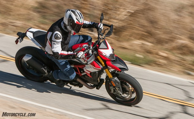 I ride the Hypermotard like I do any street/sport bike. Feel free to go all foot out if you prefer. The Hyper's happy to oblige either style.