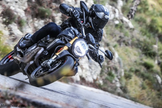 Strafing a twisty mountain road on a Monster 1200S nears the verge of motoring perfection.