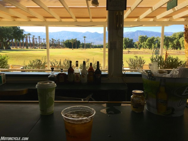 Things like lunch at the Furnace Creek Golf Course (lowest one on earth) throw us behind schedule, but how can you complain?